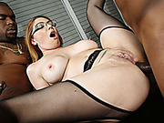 MILF Kiki Daire Gets Her Holes Filled With Black Cock