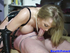 Funny femdom wife assfucked by her slaveboy