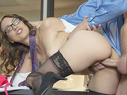 Jade unbuttoned her blouse and skirt to seduce her boss