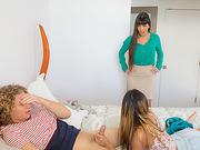 MILF Mercedes snatches Jossies boyfriend ends up in threesome sex