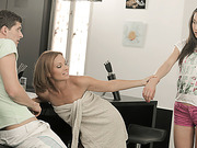 While sexy Natalie is away stepmom Szilvia seduces her bf