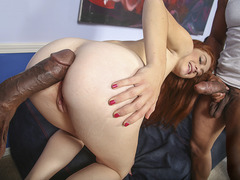 Alice Green Fucks 3 Black Cocks In Front Of Her BF