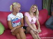 Angela And Alexia Milk A Stiff Prick