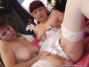 Two Sexy Granny Lesbians Scissor-Fuck Each Other