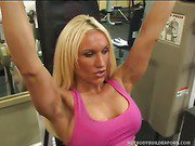 Hot Blond Gets Fit By Fucking In The Gym