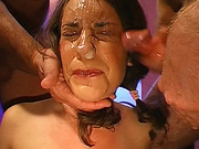 German goo girl gets her face covered in sperm