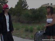 Rap Video Girl Sucks Off Hard White Cock