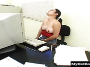 China Dahl and her midget gilfriend get to play with a black cock
