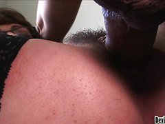 MILF Teaching Her Student's Dad How To Fuck A Hairy Pussy