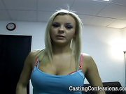 20 Year Old Brie At First Porn Casting Ever