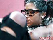 Abella Danger facialized after couch fuck