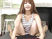 Horny guy has a fun time with cute Japanese teen Sana Anzyu when she sucks his hard dick