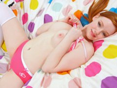 SoloInterviews Firm tits redhead Kloe Kane solo fingering