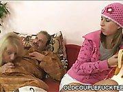 Old couple fucking railway slut