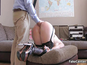 Submissive slut got ass toy stuffed then fucked