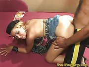 Blonde smaba dancer are fucked at party