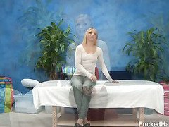 Hot and sexy 18 year old Alyssa gets fucked hard from behind from her massage therapist after seeing our free massage ad in the paper.