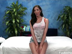 Hot and sexy 18 year old Angelica gets fucked hard by her massage therapist.
