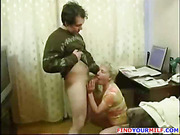 Mature horny MILF get huge young cock