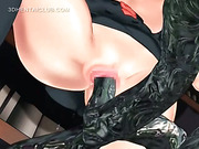 3d anime girl gets double fucked by tentacles