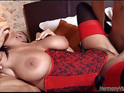 Hot slut Anissa sucks and fucks two guys