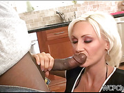 Hot white cougar hungry for black dick