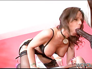 High heeled mom just loves to fuck cock