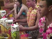 Hawaiian Orgy students