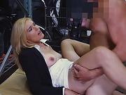Horny hottie blonde babe fucking massive hard dick