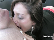 Black stockings slut ass fucked in taxi
