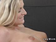 Gorgeous blonde Milf lesbians oral sex