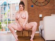 Hot slutty Lucia Love sucks two huge throbbing cocks