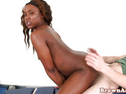 Black ass booty babe pussyfucked