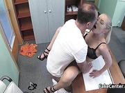 Doctor fucks slim wife of his boss