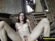 English amateur outdoor assfucked by cop