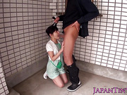 Japanese petite facefucked and fingered