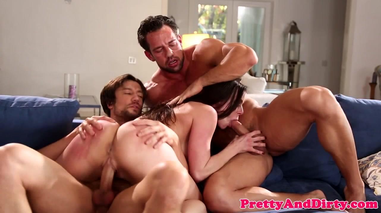 Anjelica Trio-Porno busty trio fucked milf gets cum in mouth