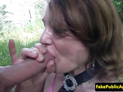 Public amateur pickedup outdoors and fucked