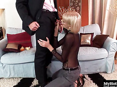 Wiska is a hot blonde MILF who cant wait to have her pretty