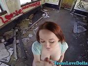 Pov teen spunk faced cash