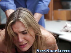 Teen thief tits jizzed