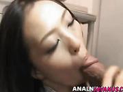 Mai sucks heavy dicks before fucking hard